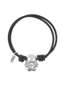 PULSERA TROOPER CUERO NEGRO STAR WARS